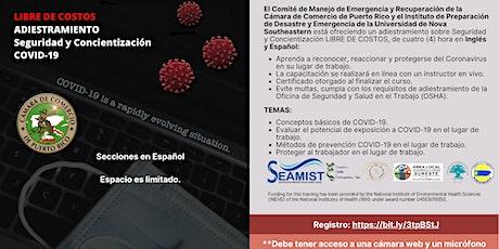 Nuevas Secciones- Adiestramiento Seguridad y Concientización COVID-19 entradas