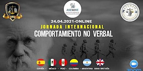 JORNADA INTERNACIONAL DE COMPORTAMIENTO NO VERBAL ingressos