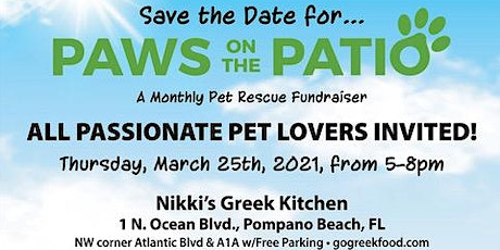 Paws-on-the-Patio!   Monthly Pet Rescue Fundraiser tickets