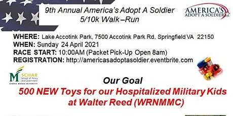 9th Annual America's Adopt A Soldier 5K/10K Fun Walk/Run tickets