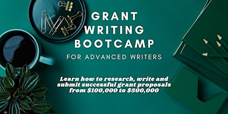 Grant Proposal Writing Bootcamp Class: For Advanced Writers tickets