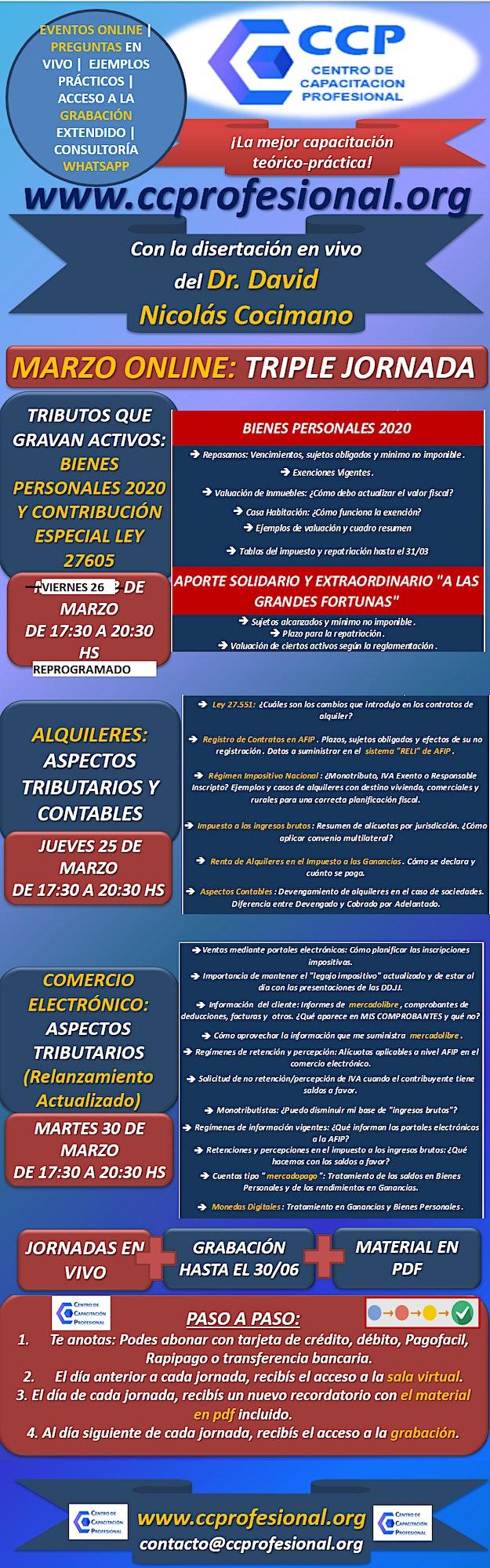 Imagen de MARZO ONLINE: ALQUILERES, COMERCIO ELECTRÓNICO, BIENES PERSONALES  Y  ¡MAS!