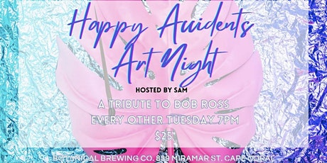 Happy Accidents Paint Night: A Tribute to Bob Ross	Hosted by Sam Valero tickets