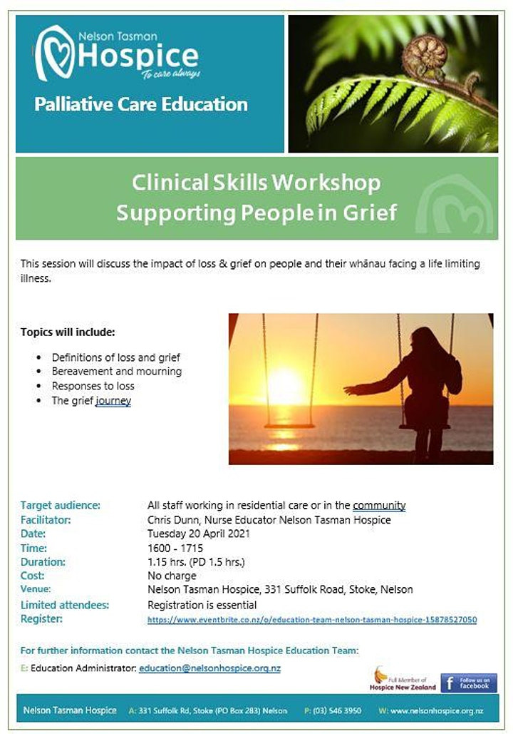 Supporting People in Grief (Clinical Skills Series 1.5hrs.) image