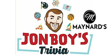 FREE Friday Night Trivia With JONBOY! tickets