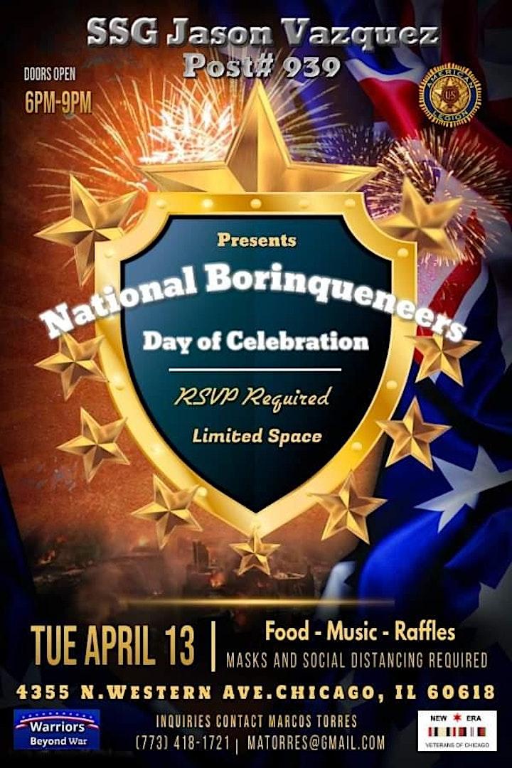 "Post # 939 presents  "" National Borinqueneers Day Celebration"" image"