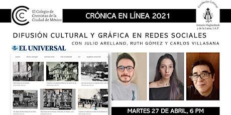 DIFUSIÓN CULTURAL Y GRÁFICA EN REDES SOCIALES entradas