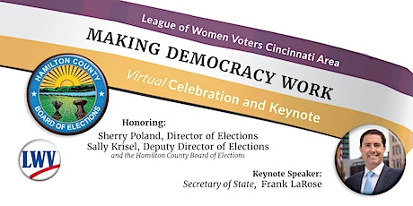League of Women Voters' 2021Making Democracy Work Celebration and Keynote tickets