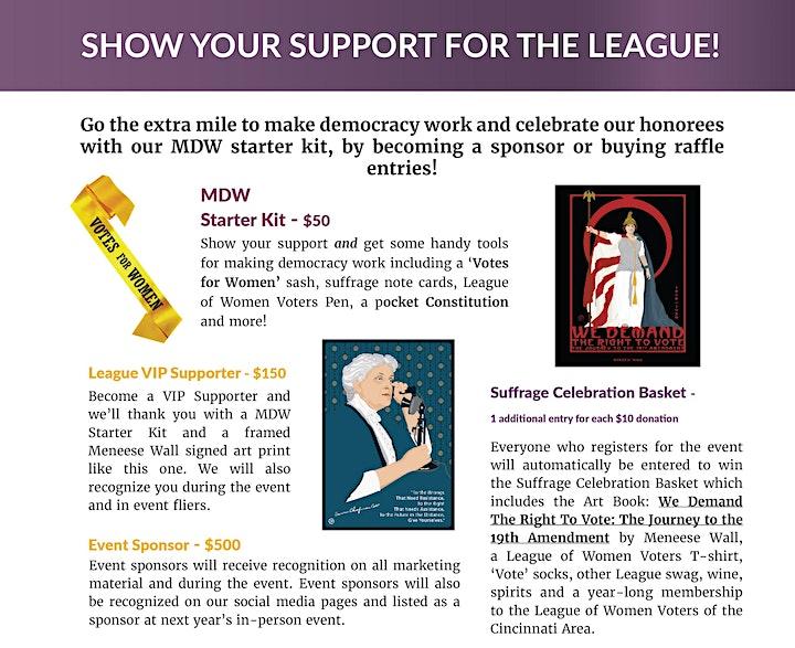 League of Women Voters' 2021Making Democracy Work Celebration and Keynote image