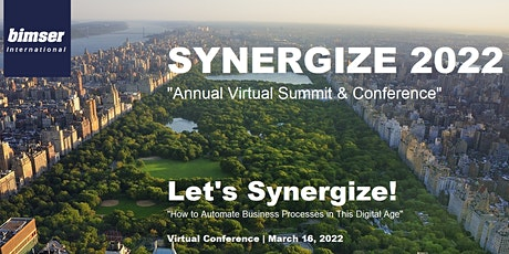 SYNERGIZE-2022: Virtual Conference for Automation & Digital Transformation tickets