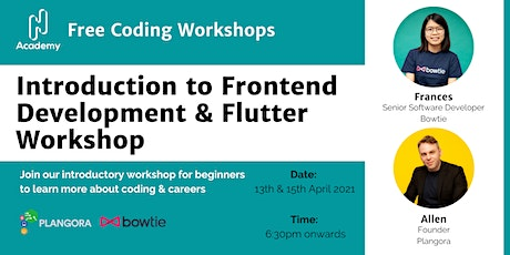 [FREE CODING WORKSHOPS] Introduction to Frontend Development & Flutter tickets