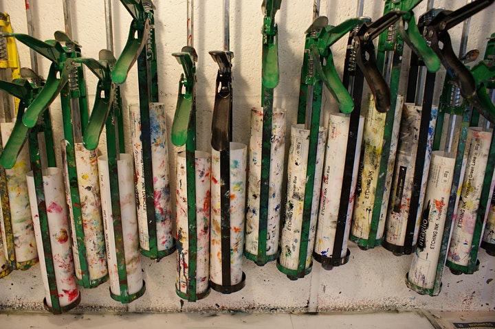 Printmaking workshops - Monotype additive and subtractive processes image