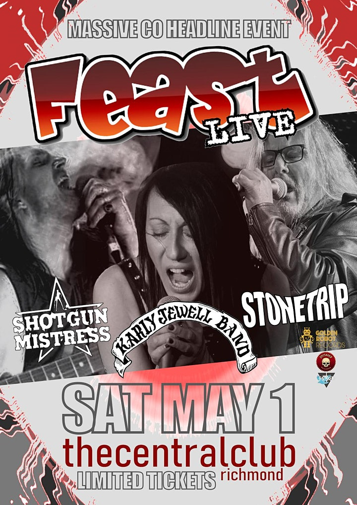 feast LIVE! @thecentralclub  STONETRIP ,SHOTGUN MI image