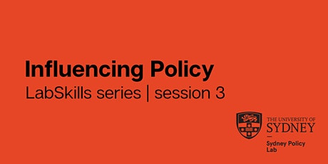 LabSkills series | session 3: Influencing Policy ingressos