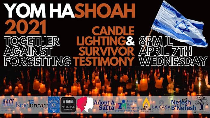 Yom HaShoah Global: Holocaust Survivor Testimony & Candle Lighting, April 7 image