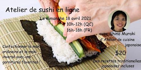Confectionner des rouleaux de sushi en ligne - le dimanche 18 avril billets