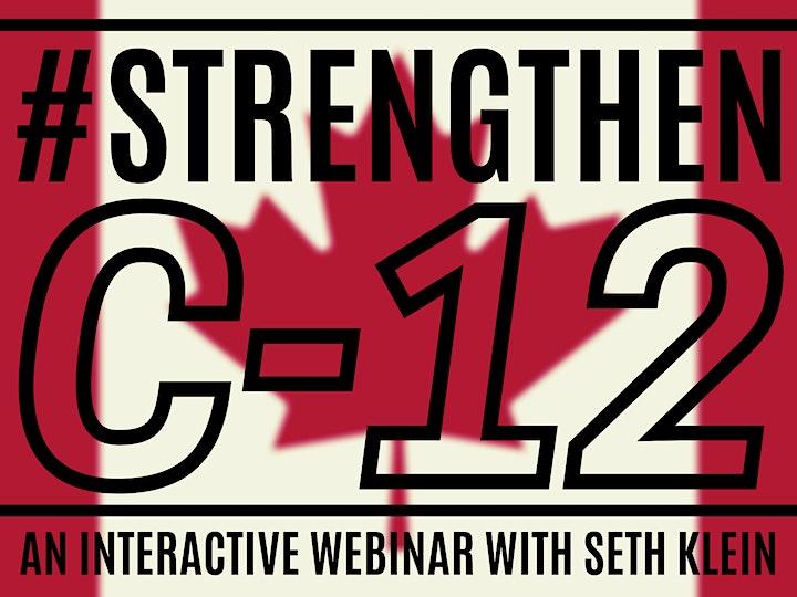 Strengthen Bill C-12    National Interactive Webinar with Seth Klein image