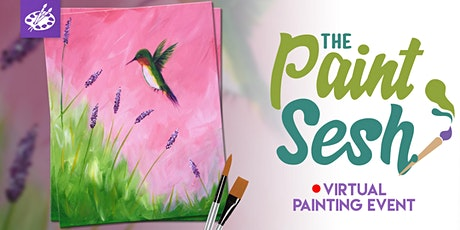 """Virtual Paint Night at Home: """"Hummingbird"""" - (Online Painting) tickets"""