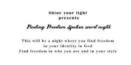 Finding Freedom Spoken Word Night tickets