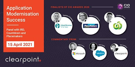 App Modernisation Success  - Panel with IRD, Countdown & PlaceMakers tickets
