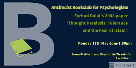 May Antiracist Bookclub for Psychologists Zoom Meeting. tickets