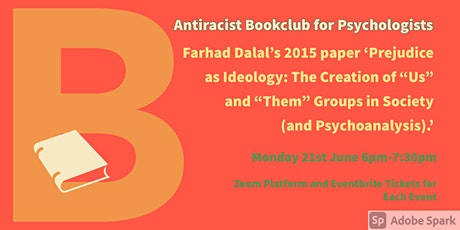 June  Antiracist Bookclub for Psychologists Zoom Meeting. tickets