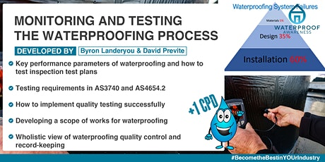 Monitoring and Testing  the Waterproofing Process tickets