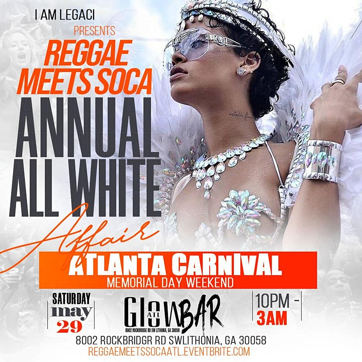 REGGAE MEETS SOCA | All White Party | Atlanta Carnival Memorial Day Weekend image