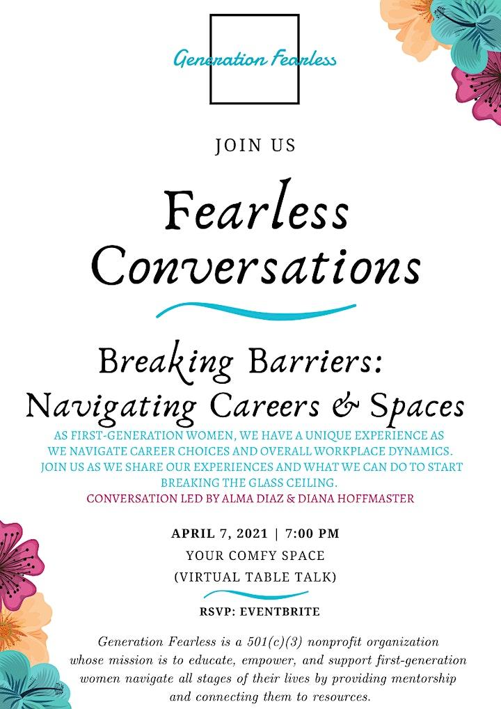 Fearless  Conversations:  Breaking Barriers:  Navigating Careers & Spaces image