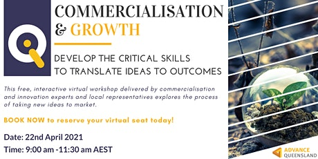 Innovate Queensland's Commercialisation & Growth Virtual  Workshop tickets