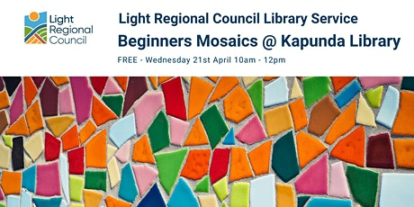 Beginners Mosaics Creative Craft Session @ The Kapunda Library tickets