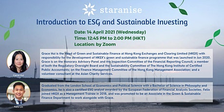 Introduction to ESG and Sustainable Investing Tickets