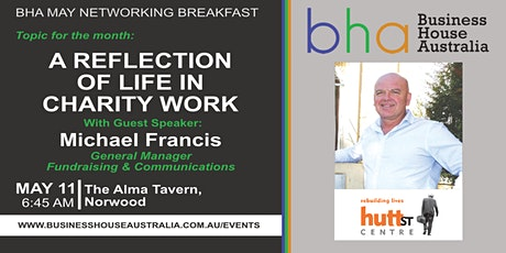 May BHA Event: 'A Reflection of Life in Charity Work' with Michael Francis tickets