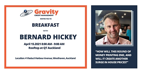 Breakfast Event with Bernard Hickey tickets