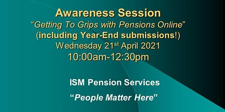 Getting To Grips with Pensions Online (Including Year-End Submissions) tickets