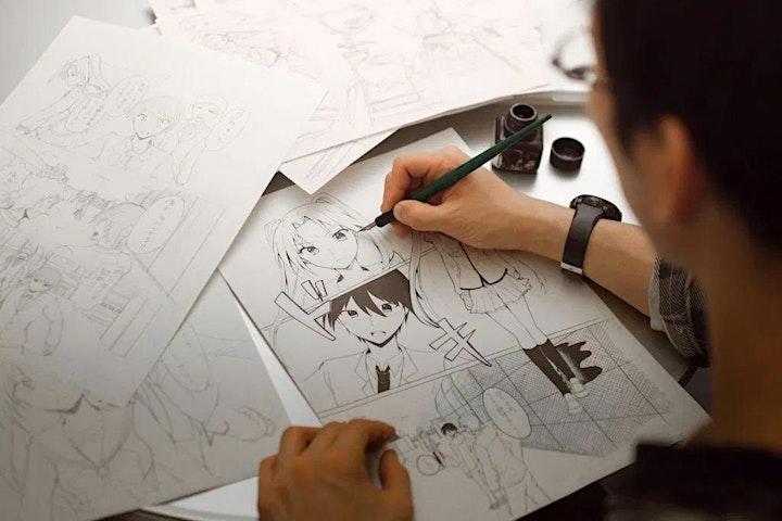 Art Manga Drawing Class for Children Adults image