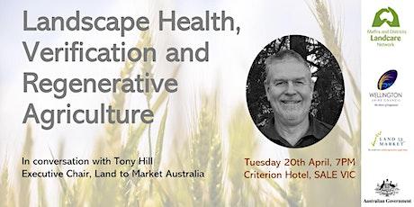 Landscape Health, Verification and Regenerative Agriculture tickets