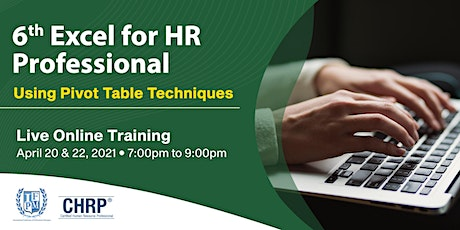 6th Excel for HR Professional: Using Pivot Table Techniques tickets