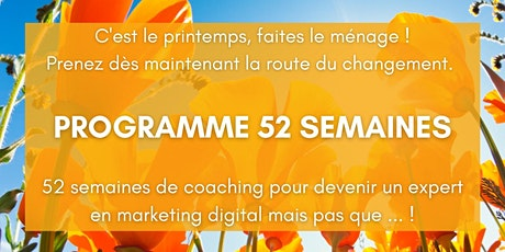 PROGRAMME 52 SEMAINES billets