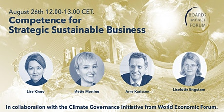 Competence for Strategic Sustainable Business tickets