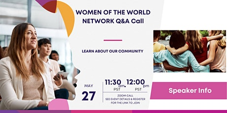 Women of the World Network Q&A Call tickets