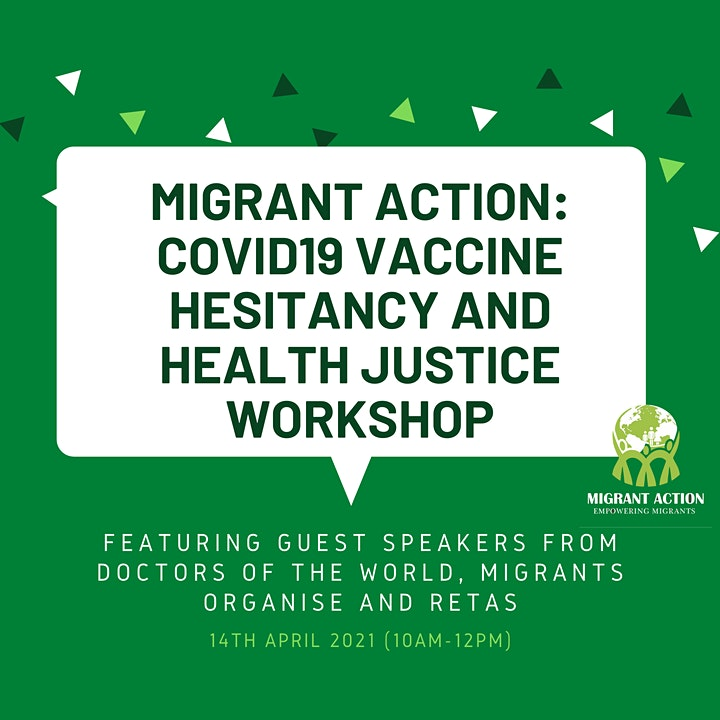 MIGRANT ACTION: COVID19 Vaccine Hesitancy and Health Justice Workshop image