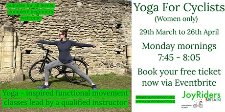 Monday Morning Yoga for Cyclists with Christine & JoyRiders Britain tickets
