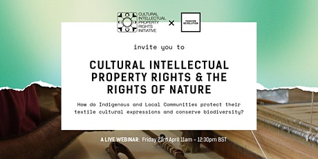 Cultural Intellectual Property Rights and the Rights of Nature tickets