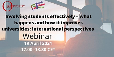 Involving students effectively. How it improves universities. Perspectives entradas