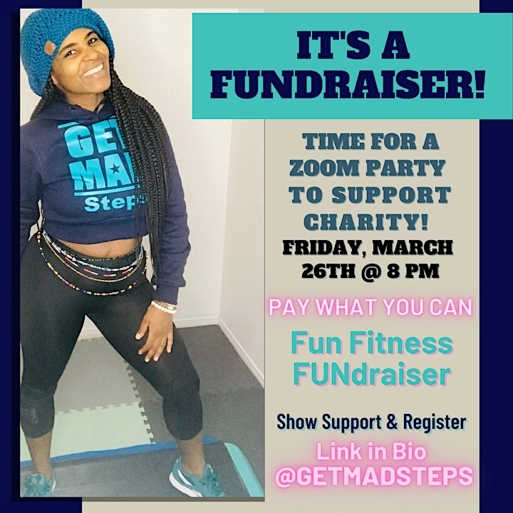GETMAD Steps Give Back - International Women's Day Fun Fitness Fundraiser image