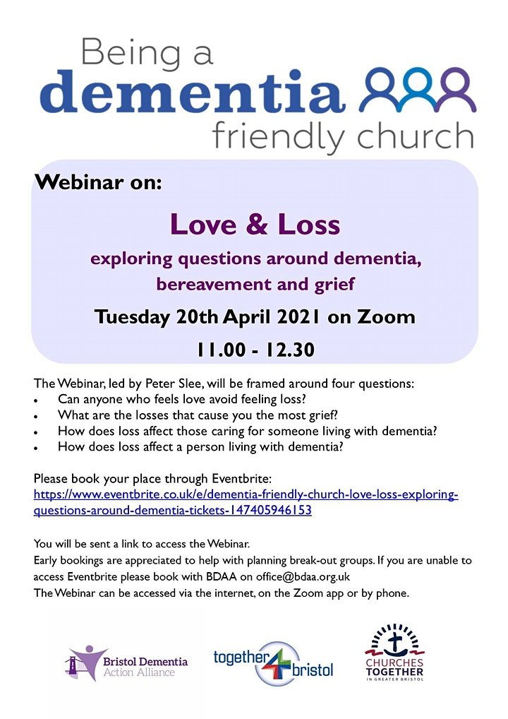 Dementia Friendly Church: Love & Loss - exploring questions around dementia image
