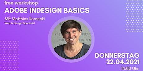 Adobe InDesign Basics Tickets