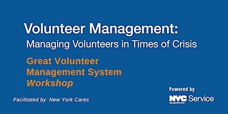 Volunteer Management: Managing Volunteers in Times of Crisis tickets
