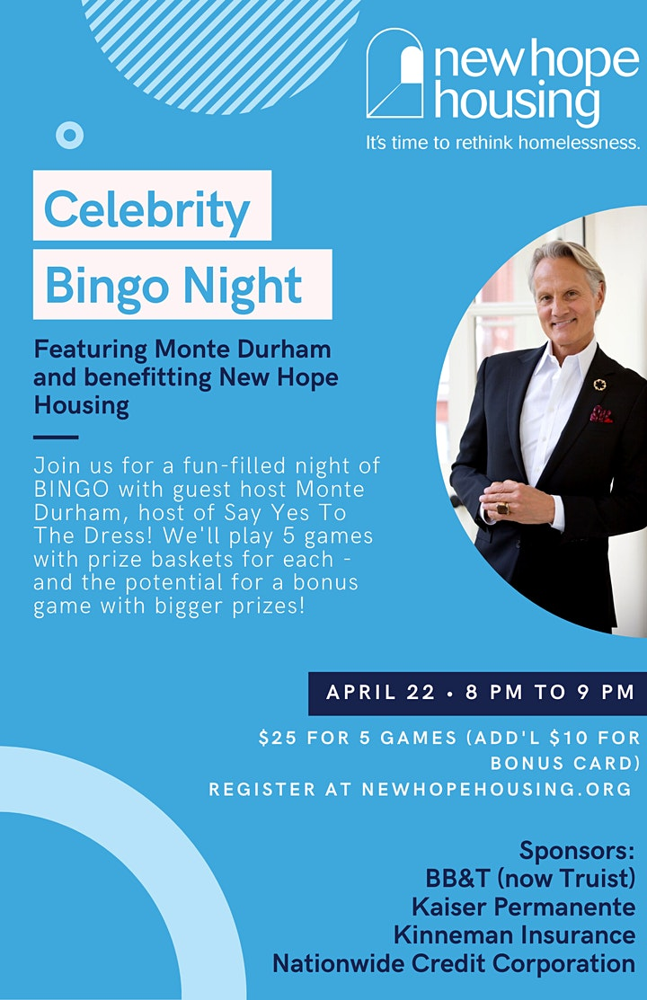 Celebrity BINGO for New Hope Housing image